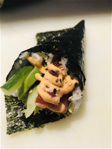 Foto Temaki spicy tonijn